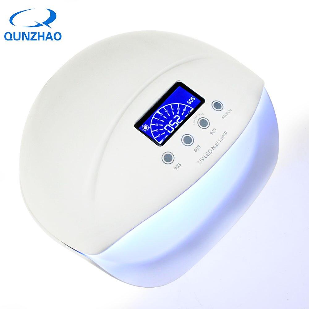 Professional 2 in 1 50W UV LED Nail Lamp 4 Light 660nm Whitening Lamp Nail Dryer