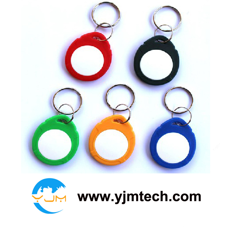 Free Shipping 100pcs/lot YJ-ABS06-T57 ISO 18000-2 T5577 (Atmel) Proximity ID 125KHZ RFID ABS Writable Keychain Keyfobs Keytags