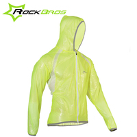 RockBros Cycling Jacket TPU Waterproof Durable Transparent Jersey Rain Jakcet UV Protect Bicycle Bike Jacket Hooded