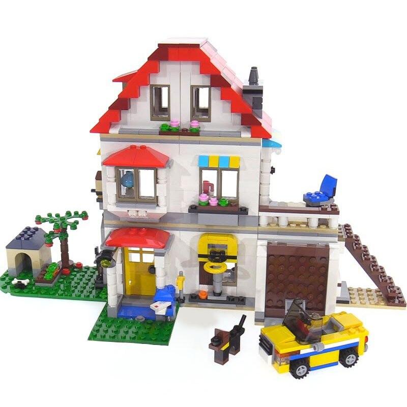 Lepin 24046 New Toys 815Pcs Creative Series The 31069 Family Villa Set Model Building Blocks Bricks Educational Toys Kids Gifts