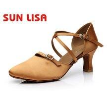 377603f584727 SUN LISA wspaniałe kobiety damy buty do tańca z wysokie obcasy sala balowa  nowoczesne buty do
