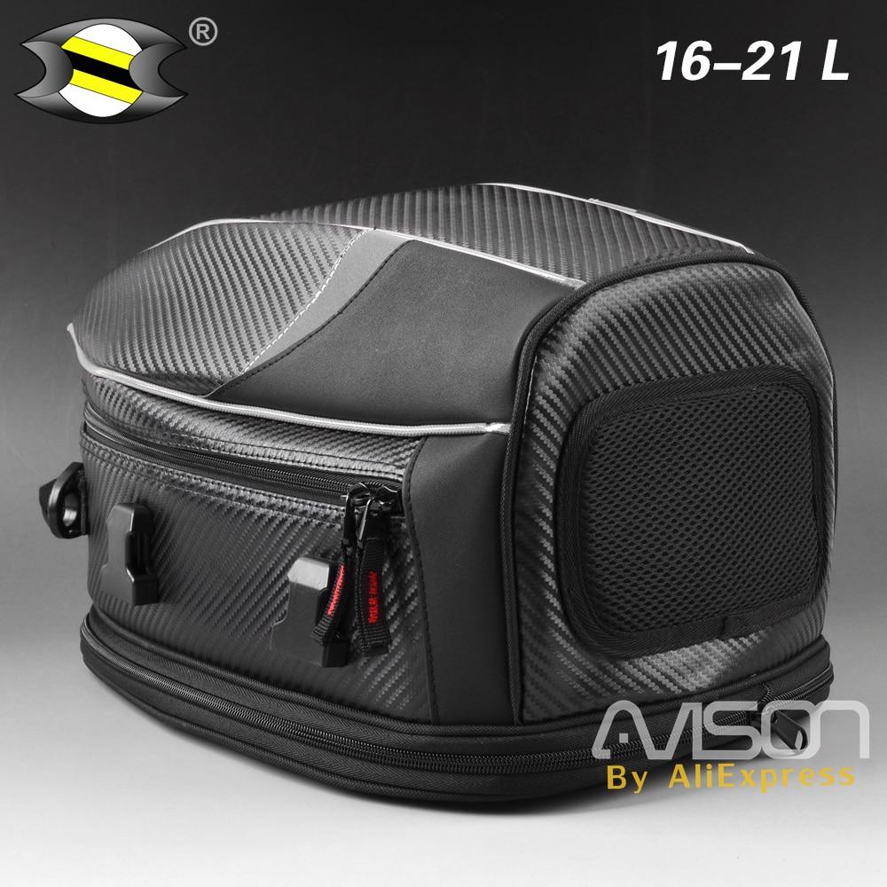 Waterproof Motorcycle Scooter Rear Seat Tail Bags Back Seat Bags Kit Travel Bag Motorbike Sport Luggage Rider Bag Pack
