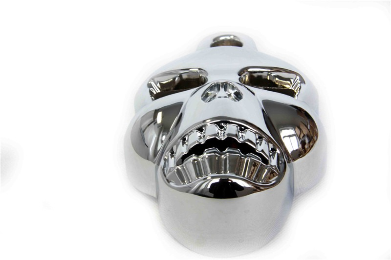 Free Shipping Motorcycle Parts Black Skull Horn Cover for Harley Davidson Big Twins V Rods Stock Cowbell Horns 1992 2013 CHROME