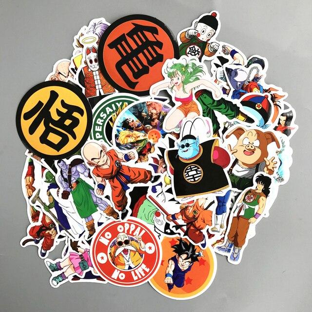 50pcs/set tickers Saiyan Goku waterproof luggage guitar suitcase Stickers DIY cute shoes Phone Laptop Covers T181007