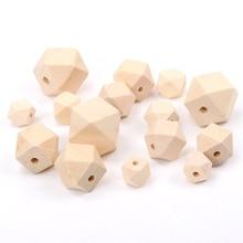 10mm 12mm 14mm 16mm faceteadas naturales de madera geométrico inacabado espaciador cuentas para la fabricación de joyería hecha a mano DIY accesorio MT0212/12