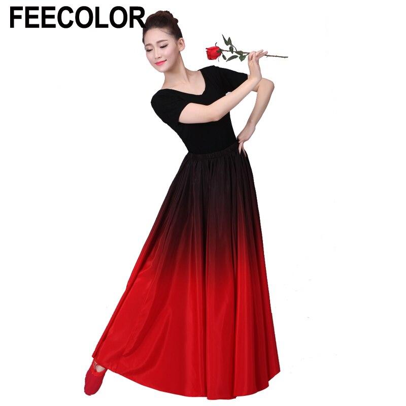 Feecolor Flamenco De Danse Jupe Danse Espagnole Performance Costume
