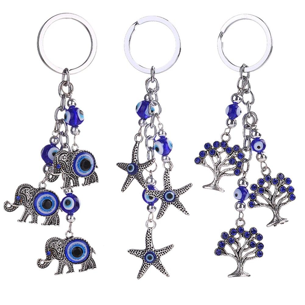 Брелок для ключей Счастливый Слон прекрасный звезда мини дерево брелок Украшения брелок ювелирные изделия Аксессуары; Бесплатная доставка