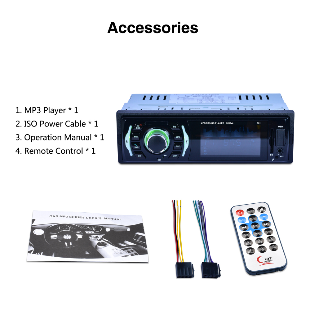 DIN Aux/SD/USB/MP3 3 Dollar 12