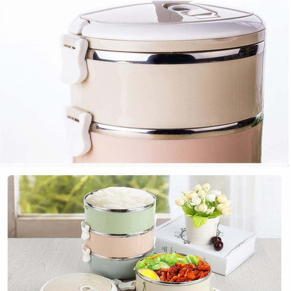 1f062eeca23b Compact Size Home Office Lunch Box Thermal Food Container Bento Box Thermos  Stainless Steel Lunch Box For Kids Portable Picnic
