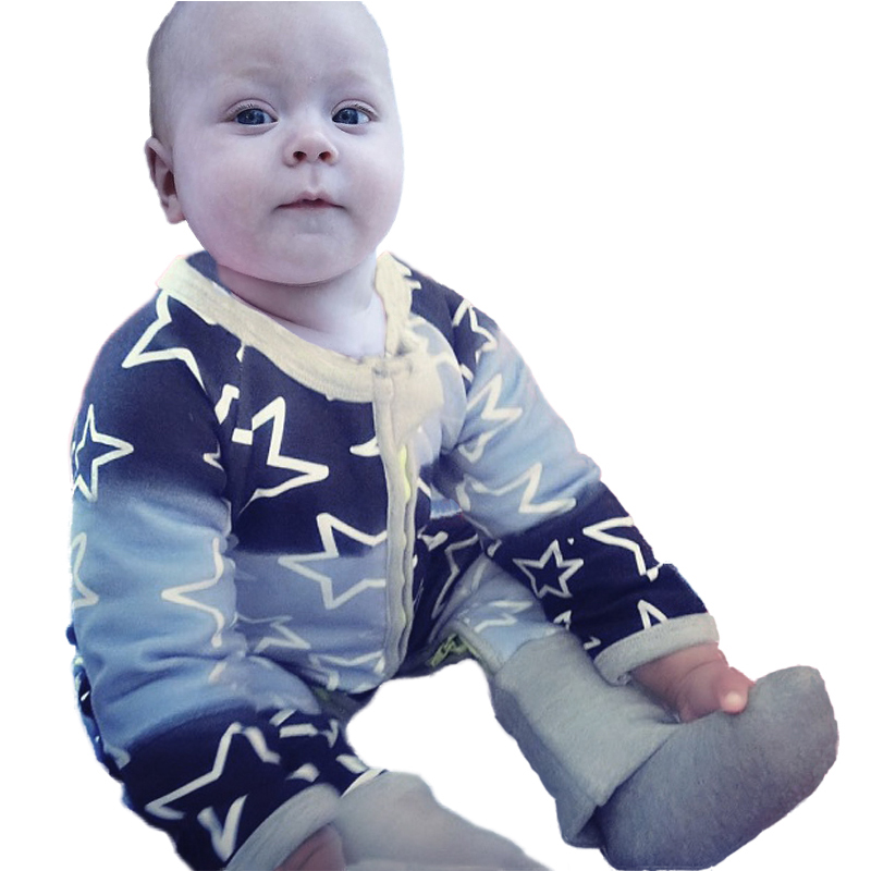 2017 Baby Boys Girls Newborn Rompers Cotton Star Pattern Body Suit  Kids Long Sleeve Jumpsuit Newborn Baby Clothes More Colors newborn baby rompers baby clothing 100% cotton infant jumpsuit ropa bebe long sleeve girl boys rompers costumes baby romper