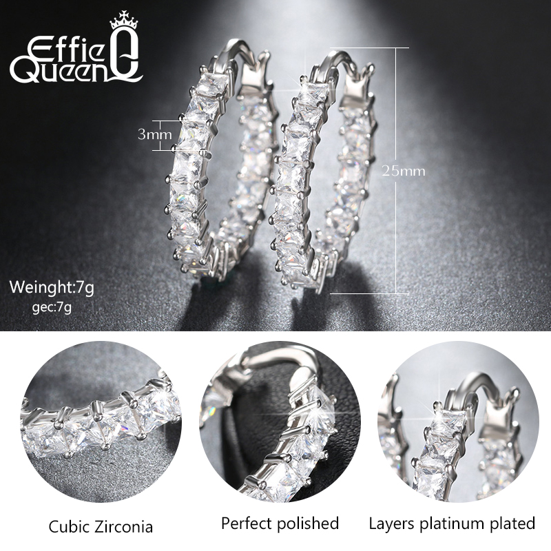 Effie Queen Μεγάλο Στρογγυλό Hoop - Κοσμήματα μόδας - Φωτογραφία 6