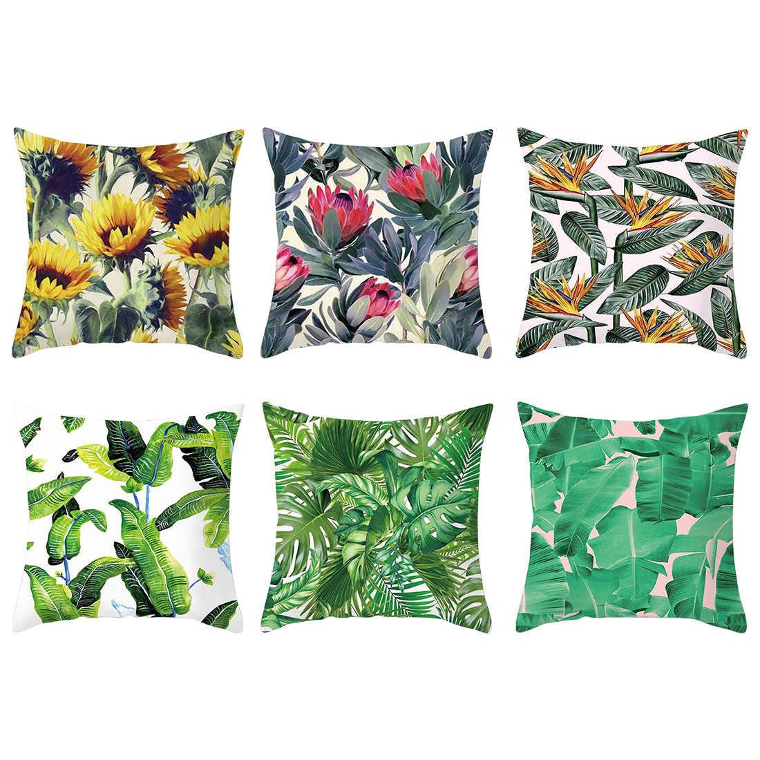 جيدة الأخضر مصنع مدار شجرة رمي كيس وسادة النخيل أوراق زهرة وسادة القضية وسادة الزخرفية ل أريكة سيارة ديكور المنزل