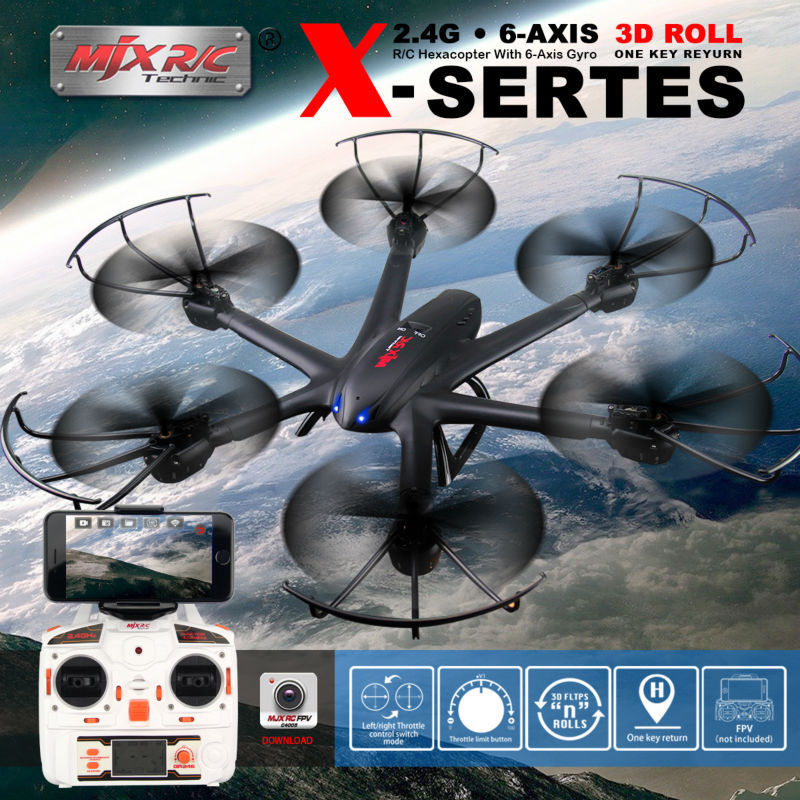 MJX X600 FPV RC Quadcopter 2.4G 6-axis Drone Headless Mode can add C4005 WIFI Drone with Camera RC Helicopters VS SYMA X5SW X5HW mini drone rc helicopter quadrocopter headless model drons remote control toys for kids dron copter vs jjrc h36 rc drone hobbies