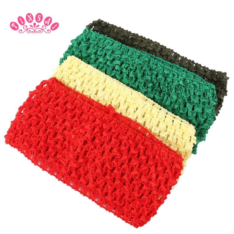 TINSAI Fashion Chest Wrap Knit 7*14CM 30 Colors Elastic Hairbands Girl Crochet Tutu Tube Top Crochet Headband Girl Presents Gift