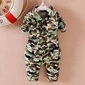 Conjunto de roupas roupas de bebe Meninos Calça + Colar de Lapela Casuais camuflagem de Impressão Blusa Tops Outono Infantil das Crianças 2 Pcs Ternos Do Bebê conjuntos