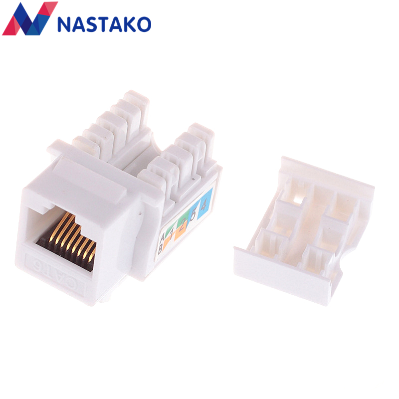 5pcs RJ45 CAT5e Keystone Jack Ethernet Network Module Cable Punch Down Wall Plug