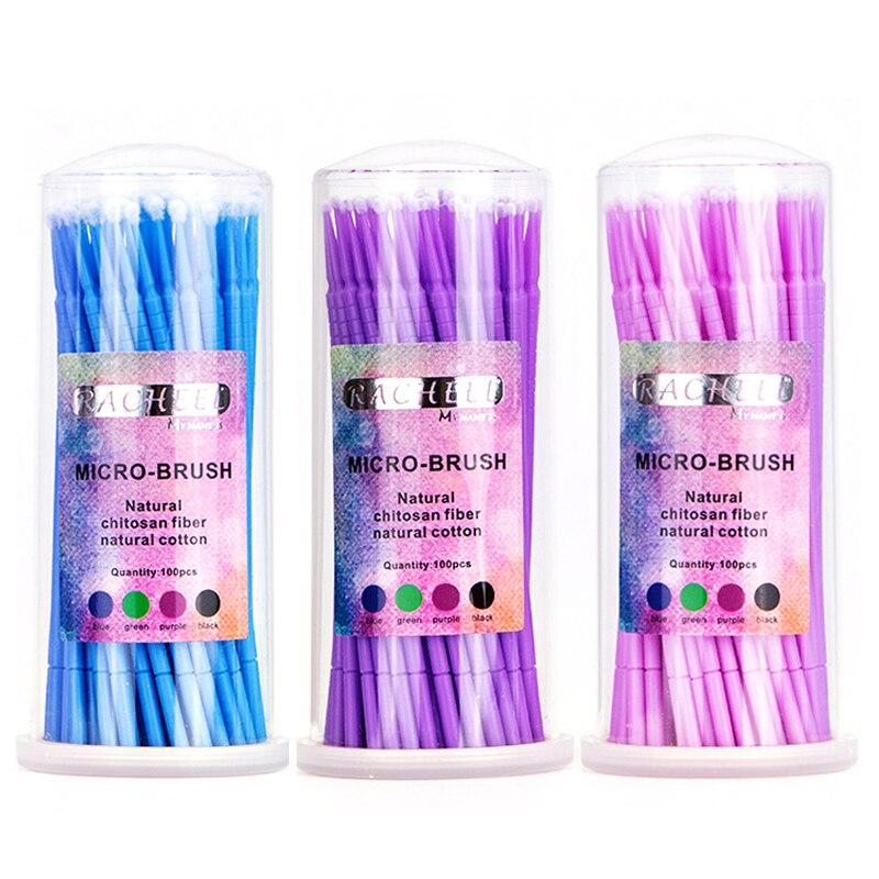 100 Pcs Applicator Brushes Dental Micro Brush Disposable Materials Durable Micro Mascara Wands Spoilers Eyelashes Cosmetic Brush