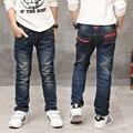 O Novo Ano, calças de brim do menino, as crianças usam estilo elegante e alta qualidade crianças calças de brim, meninos calças de brim, menino de couro das calças de brim