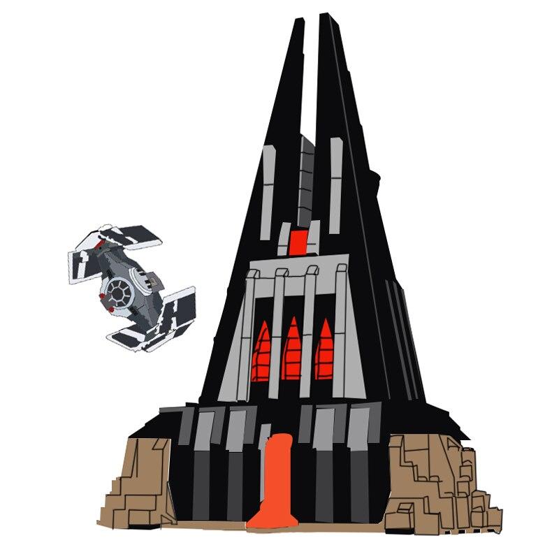 Lepin 05152 Guerres dans Star Le Darth Vader de Château Ensemble compatible Legoing 75251 Blocs de Construction pour Enfants De Noël D'anniversaire cadeau