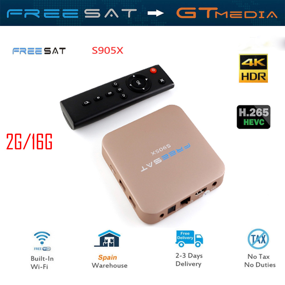 GTMEDIA S905X Android 7.1.2 Amlogic S905x 2 GB/16 GB TV BOX 2.4G/5G WIFI Bluetooth 4.0 LAN HDMi Set Top Box IPTV Soutien