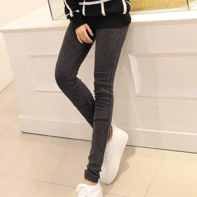 BIVIGAOS Hot Sale Spring Autumn Fashion Washed Denim Pencil Pants Skinny Slim Hip Jeans Leggings Female Thin Jeggings For Women 6