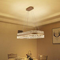 Restaurant chandelier light luxury postmodern minimalist rectangular dining room lamps Nordic creative oval bar crystal lamp LED