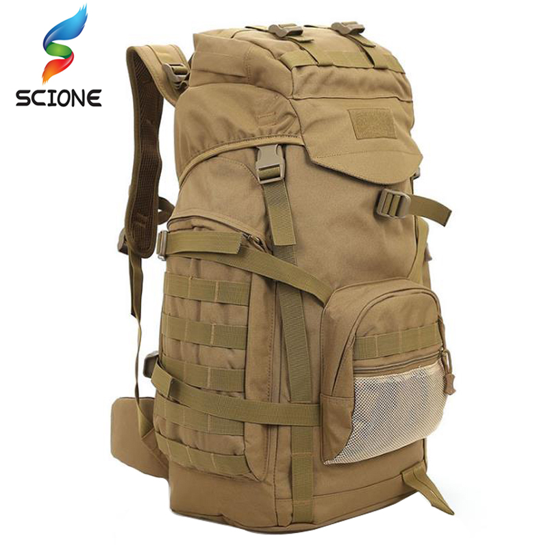60L Outdoor Tactical Backpacks Military Bag Men Mountainteering Large Military Backpack Rucksack Tactical Army Sport Hiking Bag