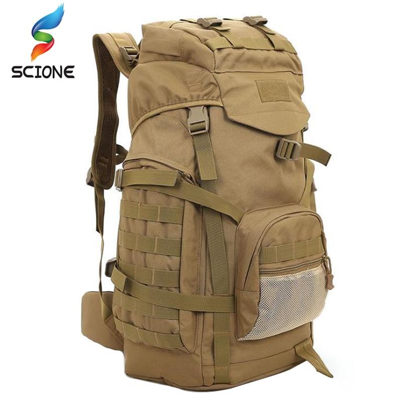 Sac à dos tactique extérieur 60L sac militaire hommes alpinisme grand sac à dos militaire sac à dos tactique armée Sport randonnée sac