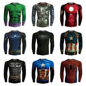 Lato kapitan ameryka Thor Hulk Batman pająk 3D drukowane Fitness Unisex koszulka z długim rękawem topy koszulki mężczyzn T-shirt Plus rozmiar