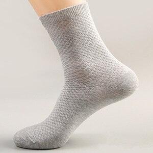 Image 4 - Männer Socken Bambus Faser Anti Bakterielle Desodorierende und Air durchlässigen Business Freizeit Socken