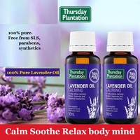 High Quality Lavender Oil Massage oil Relieve Nervous Anxiety Insect Bites Calm Soothe Relax body & mind Improve Sleep Quality