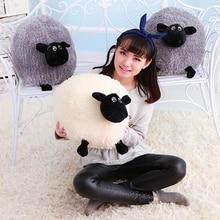 Nuevo 1 unidades precioso peluche suave juguetes de peluche cojín Sheep carácter blanco / gris Kids bebé de juguete de regalo # s425