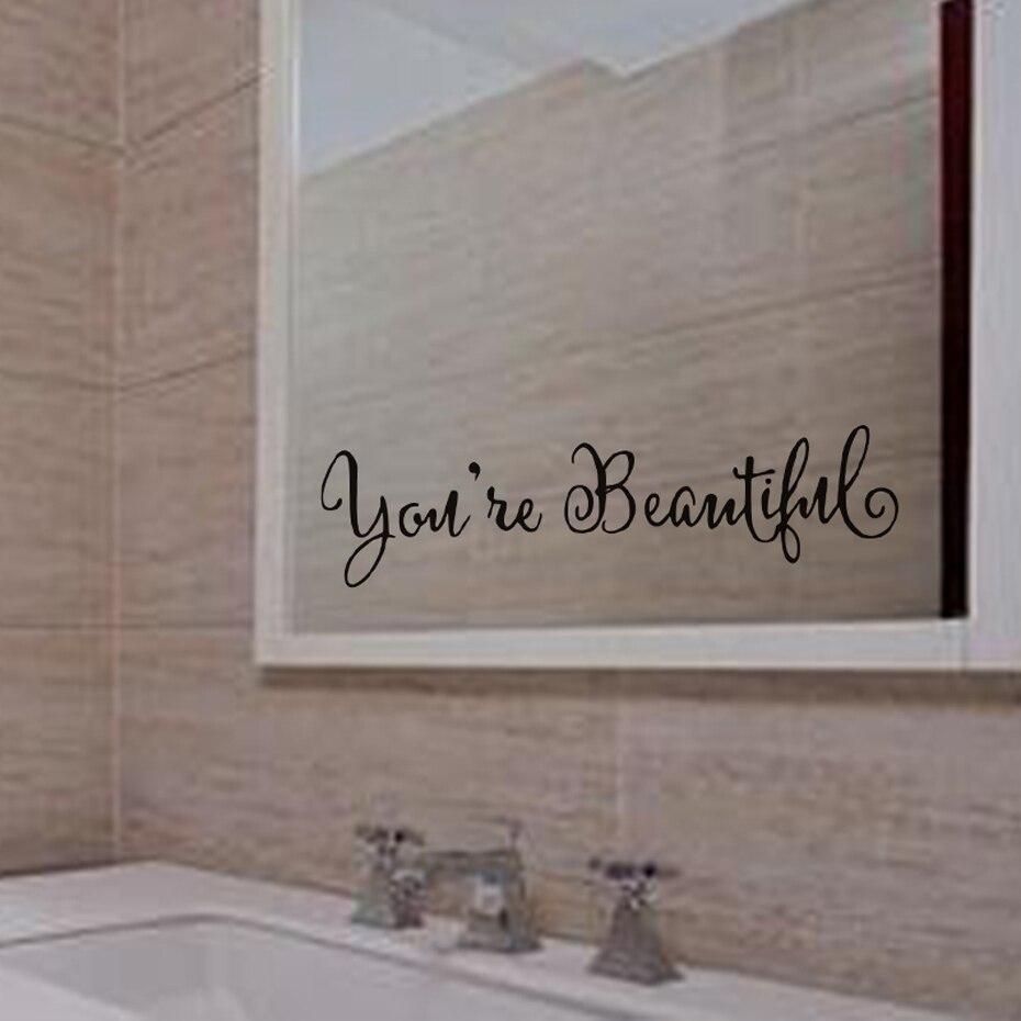 Sei Bellissima Dicendo Autoadesivo Della Parete Dello Specchio Per ...