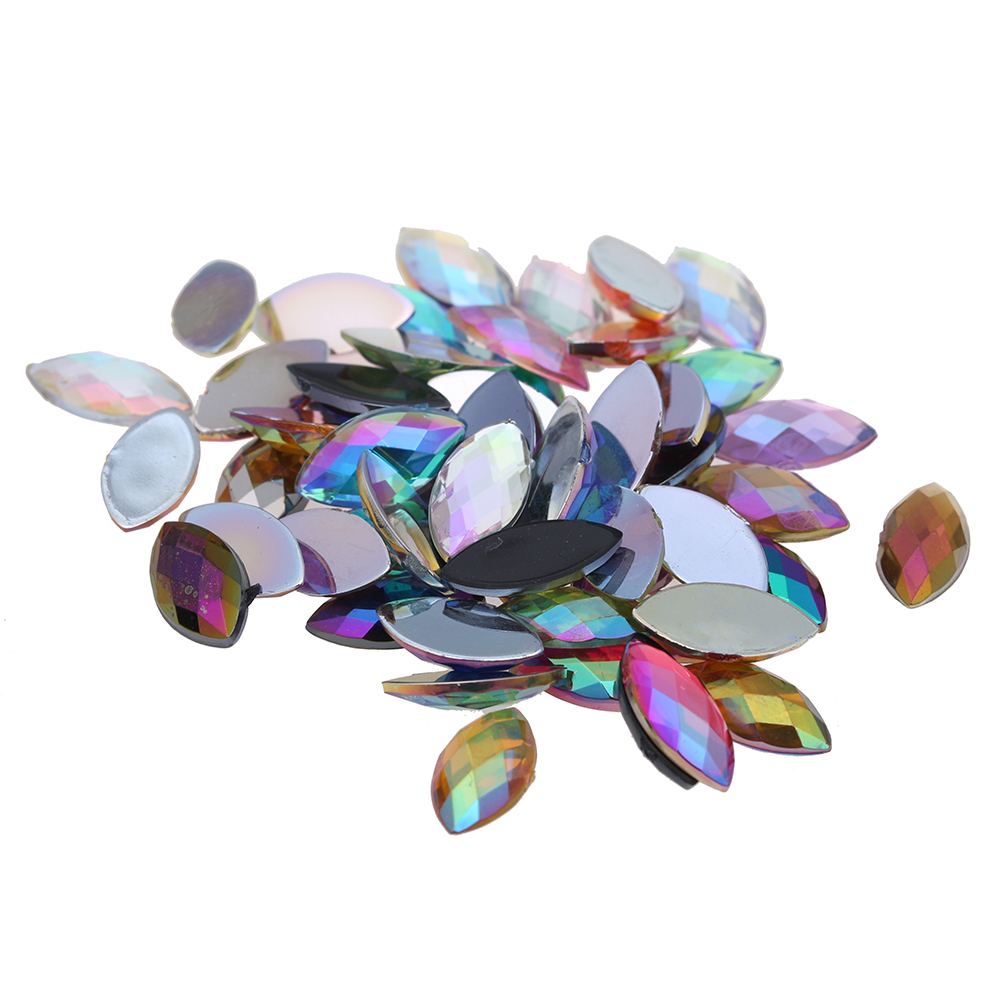 5x10mm 100pcs Flatback Pointed Marquise Earth Facet AB Colors Acrylic Rhinestones Drop Shape Glue On Beads DIY Accessories bprd hell on earth v 7