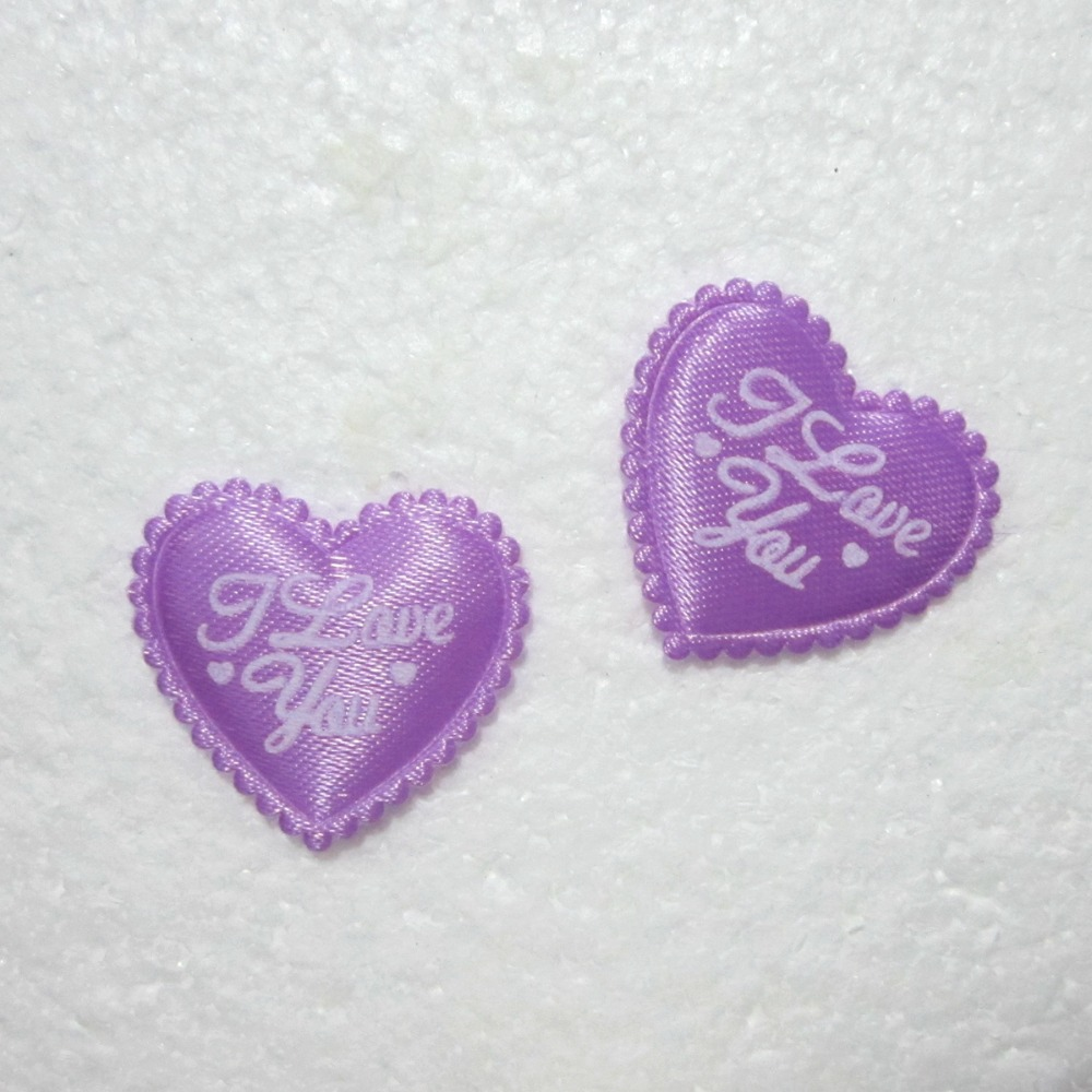 HOT 40pcs Padded Felt Heart I LOVE YOU Applique Sewing Trim DIY Wedding decoration A164