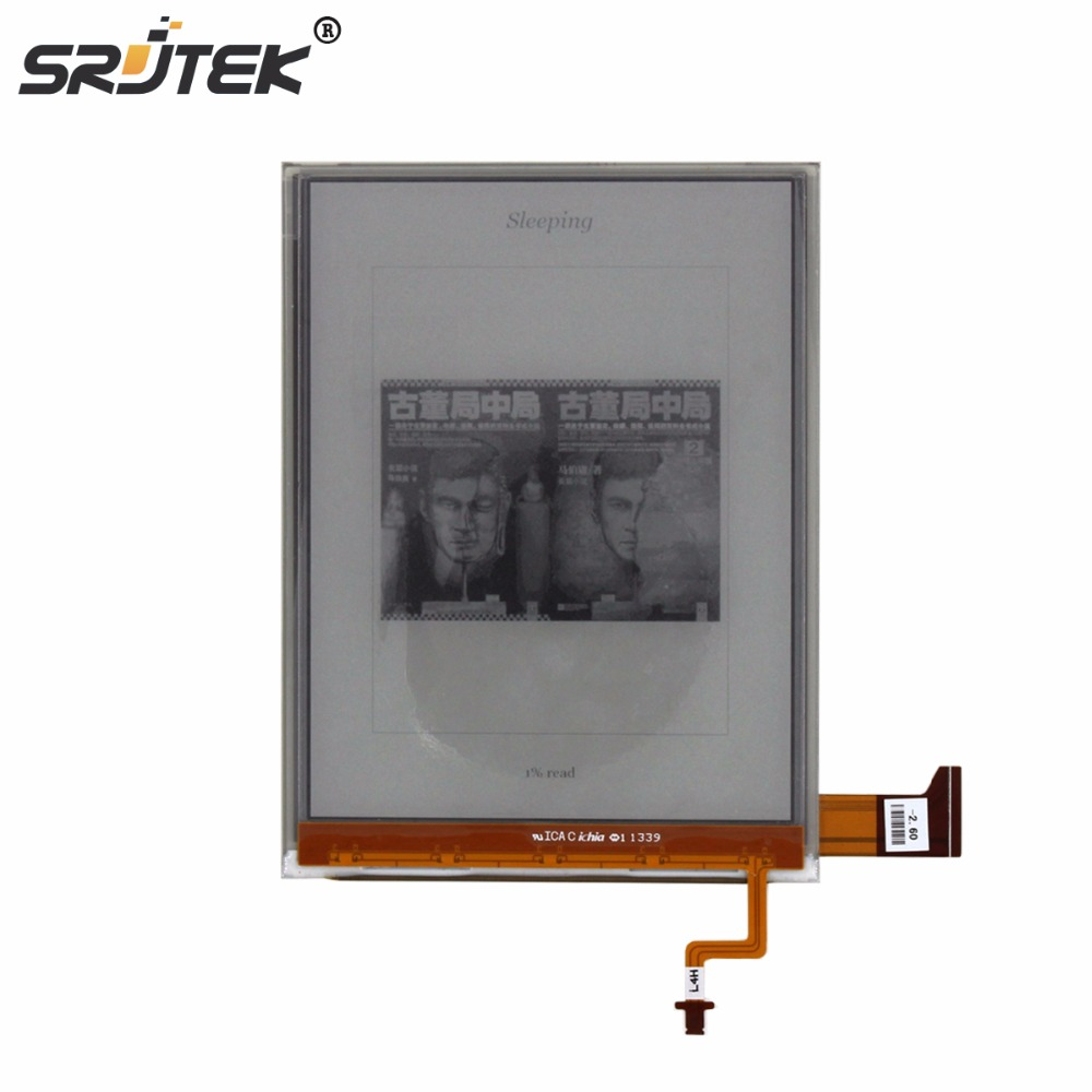 Srjtek 6 Part For ED068OG1 ED0680G1 for KOBO Aura H2O Reader E-book LCD Display with Backlight Cable Replacement Srjtek 6 Part For ED068OG1 ED0680G1 for KOBO Aura H2O Reader E-book LCD Display with Backlight Cable Replacement