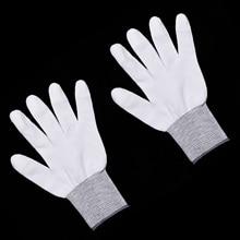 6 Pairs Verpackung Weiß Handschuhe Widmen Werkzeuge Auto Wrap Vinyl Aufkleber Anti Statischen Fenster Film Racing Kleidung Zubehör