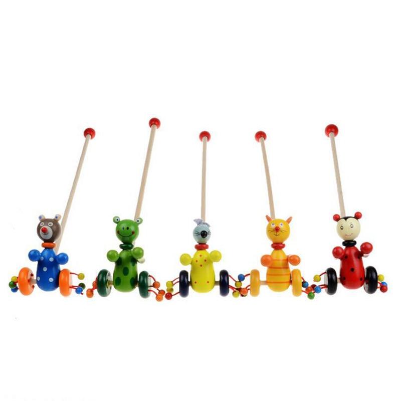 Educativo Coche Animal Puzzle De Niño Mini Animados Entrenamiento Empujando Madera Animales Juguete Bebé Caminata Pequeño Dibujos Lindo PnwO0k