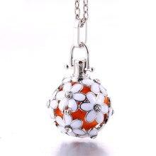 Colar difusor de aromaterapia, joia perfumada com óleos essenciais, medalhão com gaiola aberta
