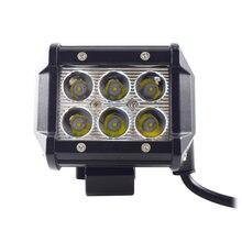 Novo 11 18 w 12 v 2 4 polegada led luz de trabalho led barra luz para motocicleta trator barco fora da estrada caminhão suv atv 6 wd led feixes 1 pçs
