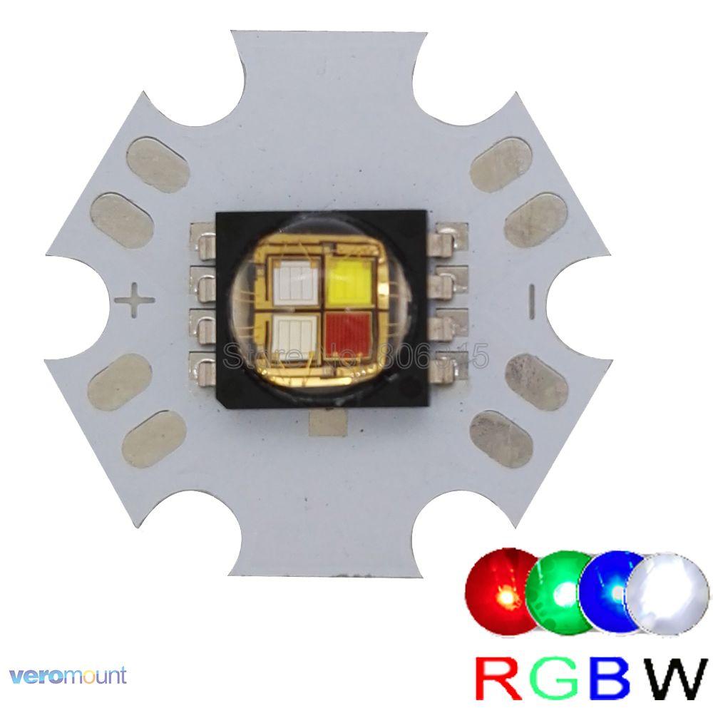 10W Cree XLamp MC-E MCE RGBW RGB + 20 мм Star PCB тақтасындағы ақ түсті жарықдиодты шамдар