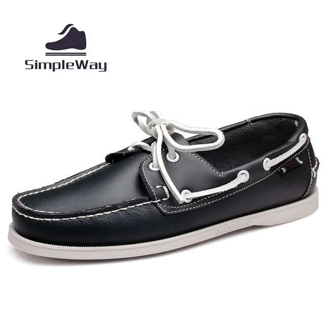 Mens smart casual luxury brand black leather big size 45 docksides deck boat shoes mens flat slip ons loafers dockers
