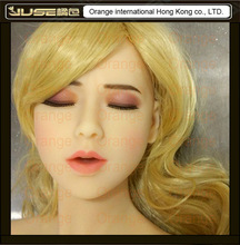 NEW sleeping beauty oral sex doll head, lifelike cyberskin head for full body love doll, girl head oral sex toys for man, HD-018