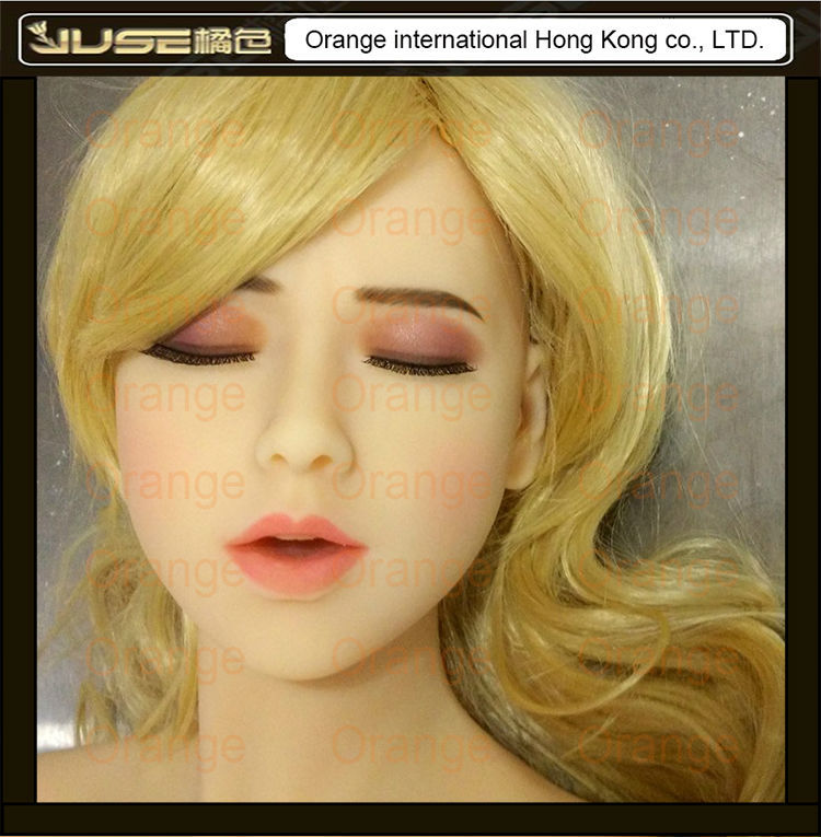 NEW sleeping beauty oral sex doll head, lifelike cyberskin head for full body love doll, girl head oral sex toys for man, HD-018 насадка удлинитель 10см cyberskin минивибратор