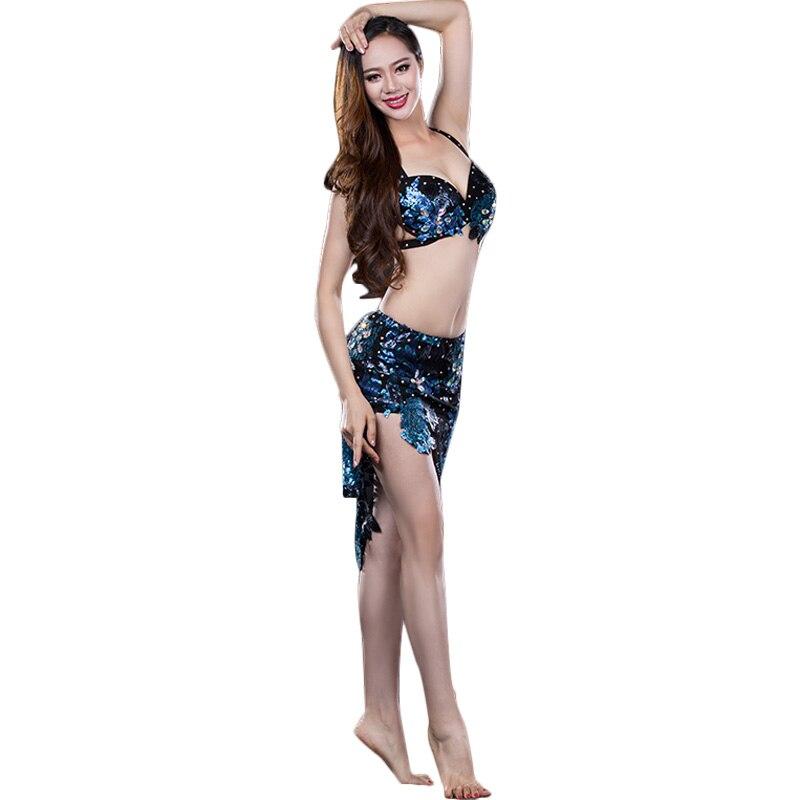 Bellydance oriental Belly baladi Indian eastern Egyptian hair swinging dance dancing costumes bra belt skirt dress robe set 3237