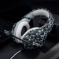 ONIKUMA K1 B Camouflage Pattern PS4 Gaming Headset Stereo Bass Headphones With Microphone For PC Mobile