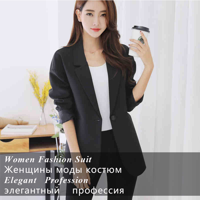 2a1f07a6827 2019 Wholesale Plus Size Casual Slim Women Jacket Blazer Female ...