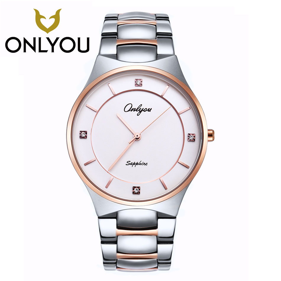 simple Fashion Pure color ONLYOU top Brand relogio Luxury Women's Casual watches man waterproof watch women fashion ultra-thin chic rhinestone african plate shape pendant necklace and earrings for women