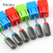 ERUIKA Balck Ceramic Nail Drill Bit Milling Cutter for Manicure Electric Machine Accessory Rotate Nail Files Nail Art Tools
