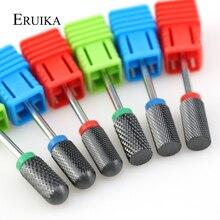 ERUIKA Balck Ceramic Nail Drill Bit Milling Cutter for Manicure Electric Machine Accessory Rotate Nail Files Nail Art Tools